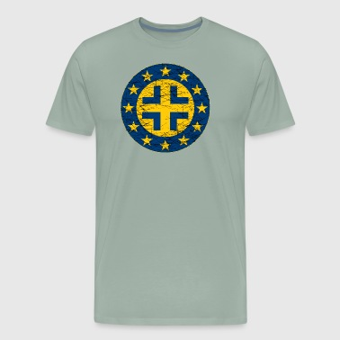 EU Flag and German Cross - Men's Premium T-Shirt