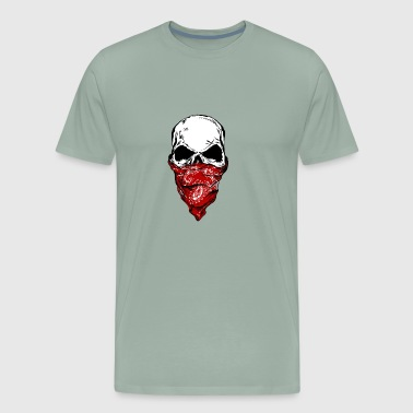 Skull with Bandana - Men's Premium T-Shirt