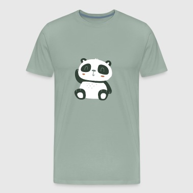 Cute Black Panda Baby - Men's Premium T-Shirt