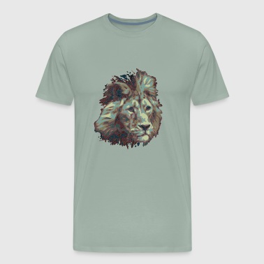 Sad old Fallen Lion Artwork Design - Men's Premium T-Shirt
