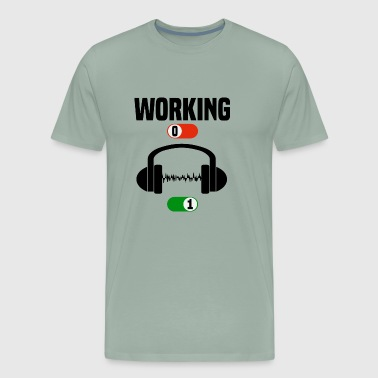 Working Job OFF music drums jazz ON gift - Men's Premium T-Shirt
