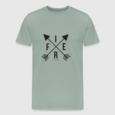 fier - crossed arrows - Men's Premium T-Shirt