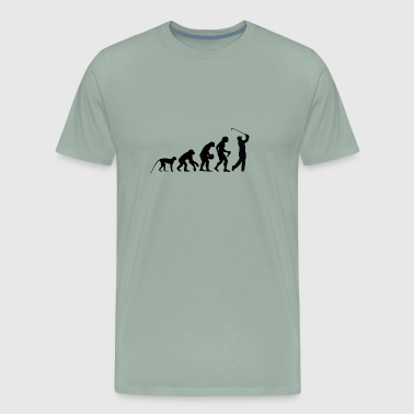 Golf Evolution The Evolution of Golf - Men's Premium T-Shirt
