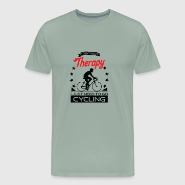Cycling - Better than therapy - racing cycle - Men's Premium T-Shirt