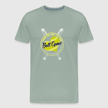 ball game softball - Men's Premium T-Shirt