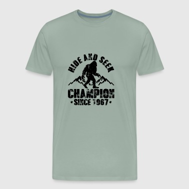 Hide and Seek Champion Since 1967 | Big foot Champ - Men's Premium T-Shirt
