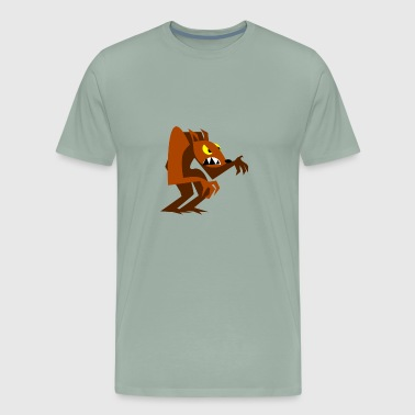 Wolf Human Cartoon Comic Wolves - Men's Premium T-Shirt