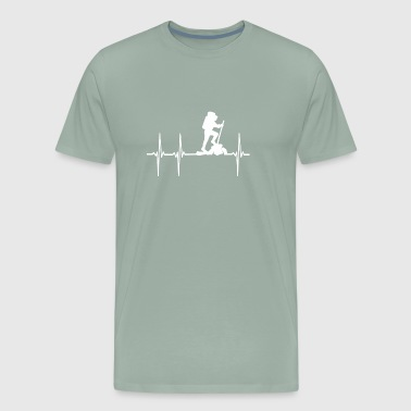 Hiking Heartbeat - Men's Premium T-Shirt