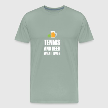 Tennis And Beer gift for Tennis Player - Men's Premium T-Shirt