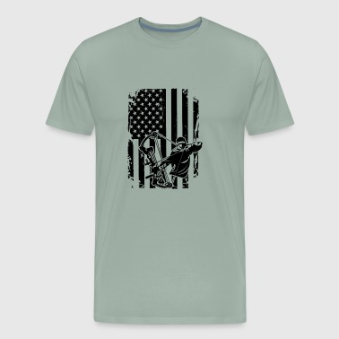 Bow Hunting Flag - Men's Premium T-Shirt