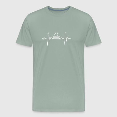 Education 6 Heartbeat Gift - Men's Premium T-Shirt