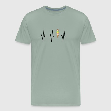Heartbeat icecream gift shirt - Men's Premium T-Shirt
