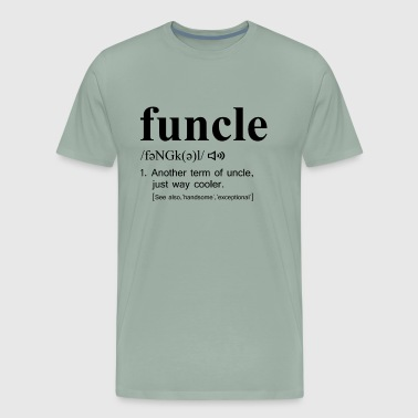 Funcle Black Text - Men's Premium T-Shirt