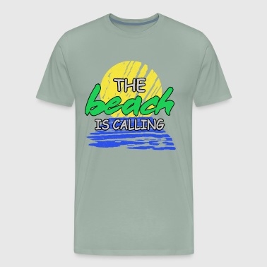 The beach is calling - Men's Premium T-Shirt