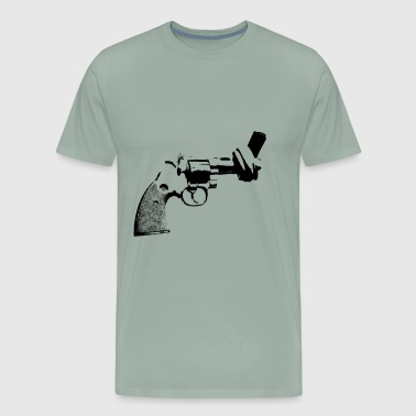 pistol freedom no war anti demo gun trump not war - Men's Premium T-Shirt