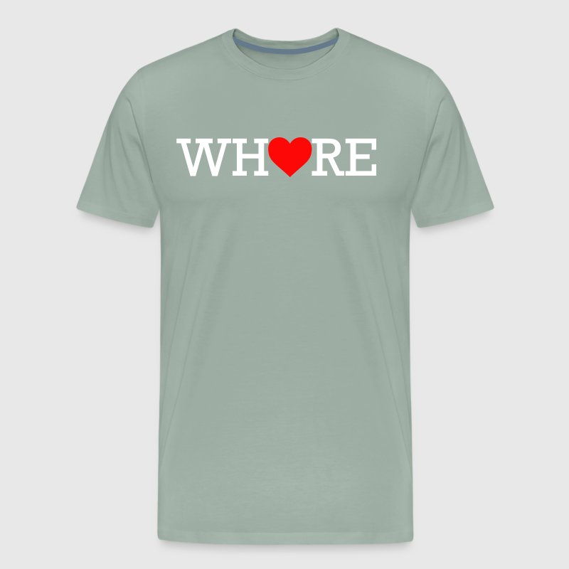 Whore Heart White Print - Men's Premium T-Shirt