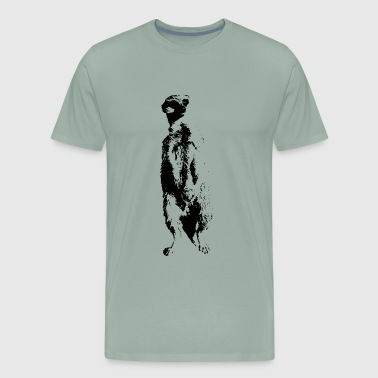 Meerkat cute meerkat, animals, animal, mammal - Men's Premium T-Shirt