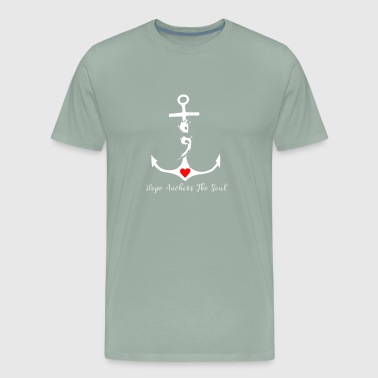 Hope Anchors The Soul, Semicolon Suicide Mental Health Awareness Design - Men's Premium T-Shirt