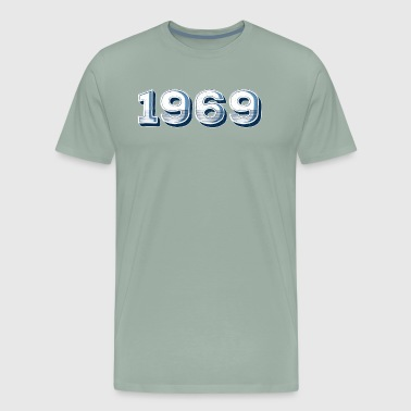 '69 - 1969 Birth Year For 1969 Birthdays - Distressed - Men's Premium T-Shirt