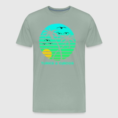 Turks and Caicos Sun Circle Gulls Souvenir - Men's Premium T-Shirt