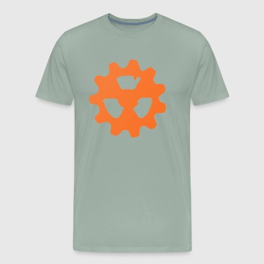 Copper Radioactive COG Wheel Symbol - Men's Premium T-Shirt