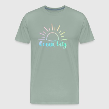 Ocean City Ocean City Sun Water Souvenir Design - Men's Premium T-Shirt