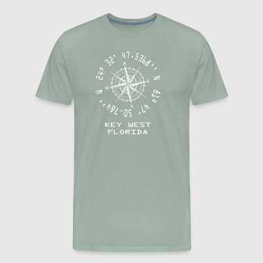 Key West Florida Longitude & Latitude Coordiantes Souvenir - Men's Premium T-Shirt