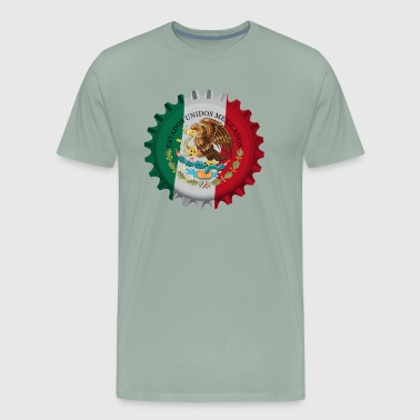 Mexico Beer Bottle Cap Souvenir - Estados Unidos Mexicanos - Men's Premium T-Shirt