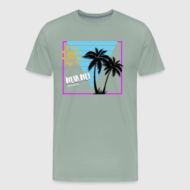Miami Florida Sun & Palm Trees Souvenir - Men's Premium T-Shirt