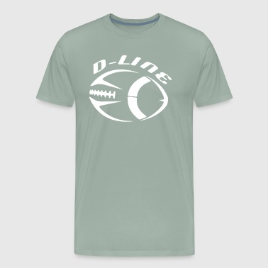 Football D Line Defensive Line Design - Men's Premium T-Shirt