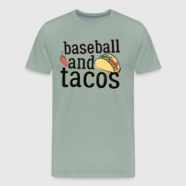 Baseball Gift Tacos And Baseball Black Funny Ball Players Shirt - Men's Premium T-Shirt