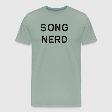 Music Shirt Song Nerd Dark Song Writer Musician Guitar Player Singer Gift - Men's Premium T-Shirt