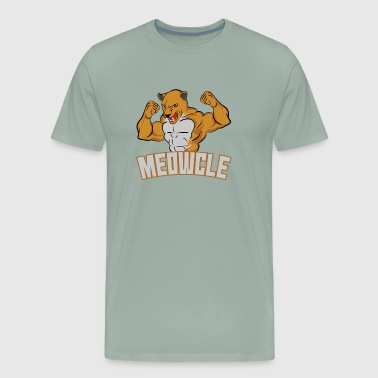 Meowcle Gym Gift for Cat Loving Meatheads - Men's Premium T-Shirt