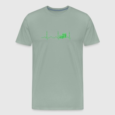 Lucky Poker Chip Heartbeat for Las Vegas Gambling Trip - Men's Premium T-Shirt