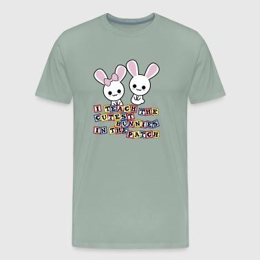 Shop x easter teacher preschool kindergarten cute bunnies t shirts kindergarten preschool teacher gift cutest bunnies easter design men39s premium negle Image collections