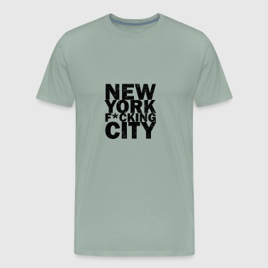 new york fucking city - Men's Premium T-Shirt