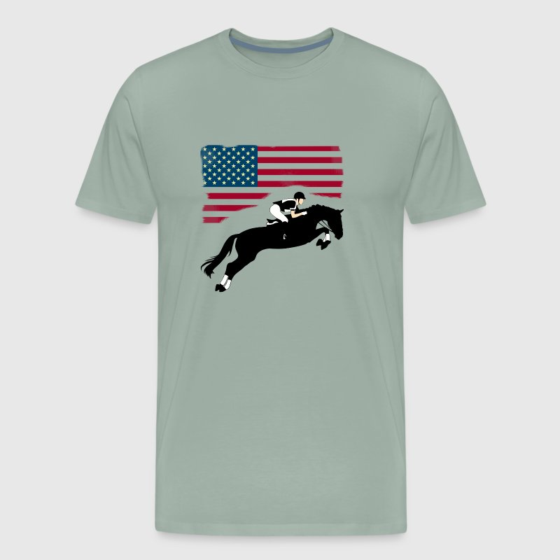 Originale Patriottico Bandiera Cavallo T-shirt 78K4GR