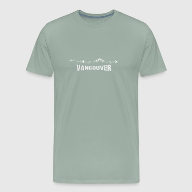 Commemorative VANCOUVER with mountain range. - Men's Premium T-Shirt