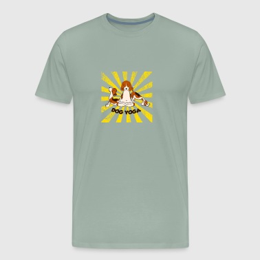 Dog Yoga - Men's Premium T-Shirt