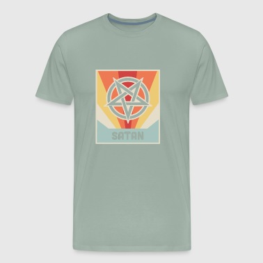SATAN | Vintage Occult Pentagram - Men's Premium T-Shirt