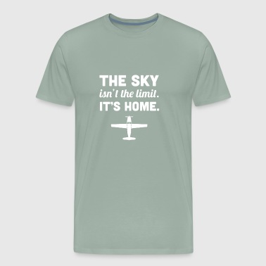 Home | Funny Airplane Pilot Quote - Men's Premium T-Shirt