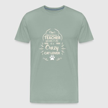 teacher cat lover - Men's Premium T-Shirt