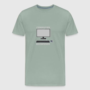 Computer Whisperer with Keyboard and Mouse - Men's Premium T-Shirt