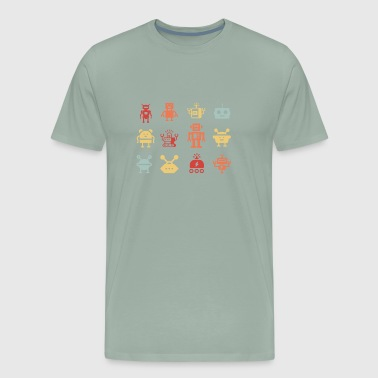 Retro Robot Army - Men's Premium T-Shirt