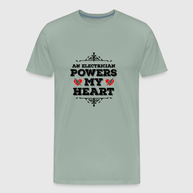 An Electrician Powers my Heart - Gift - Men's Premium T-Shirt