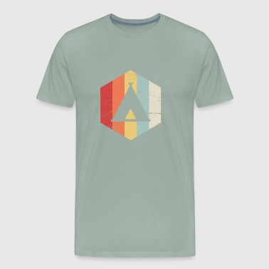 Retro Camper Tent Icon - Men's Premium T-Shirt