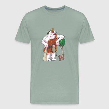 A cool giant with his dwarves - Men's Premium T-Shirt
