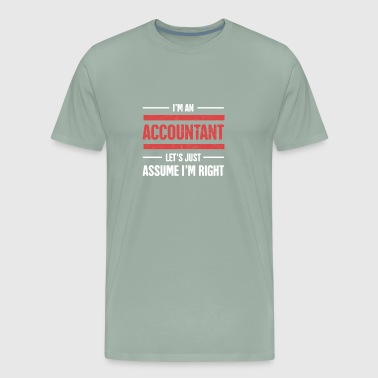Funny Accounting Design - Gift Accountants - Men's Premium T-Shirt