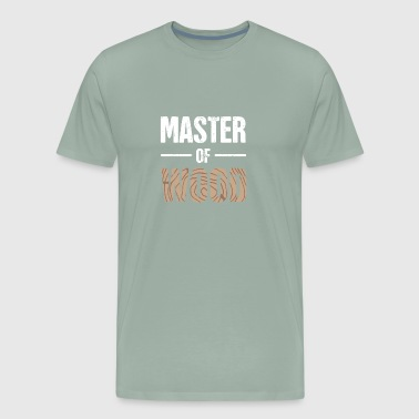 Master Of Wood | Funny Carpenter Graphic - Men's Premium T-Shirt