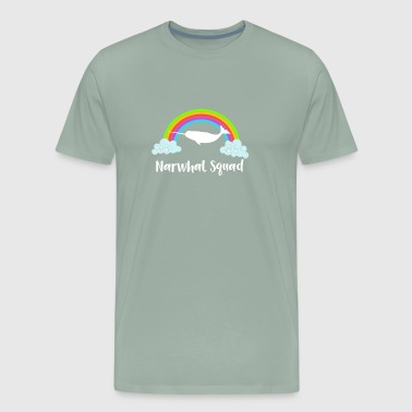 Narwhal Squad Narwhal Lover Rainbows and Narwhals - Men's Premium T-Shirt